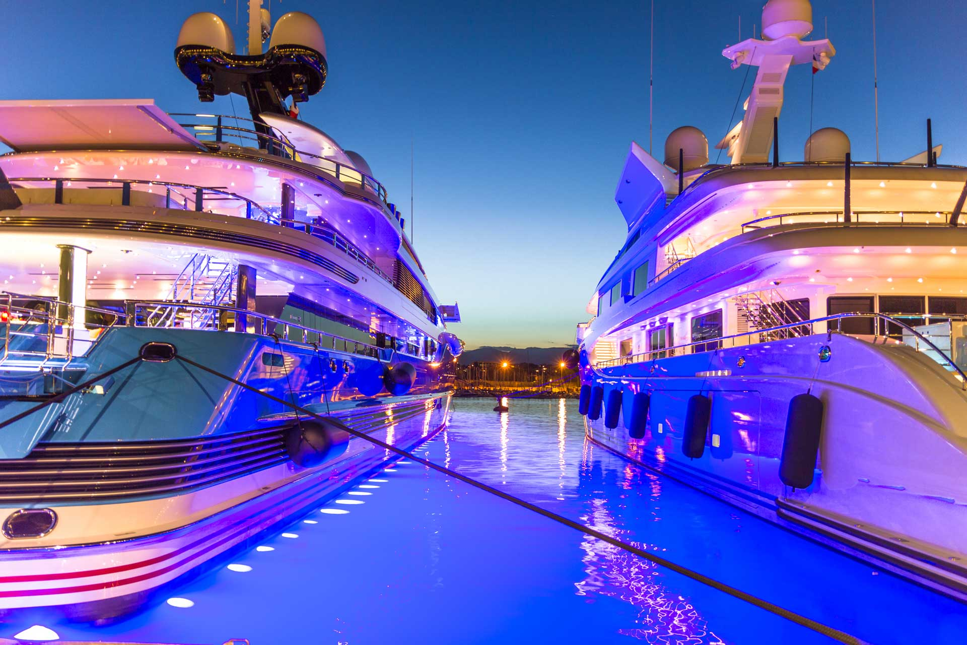 Athens Gold Yachting - Luxury Yachts at dawn