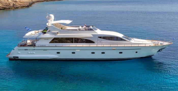 Athens Gold Yachting - Efmaria aerial side