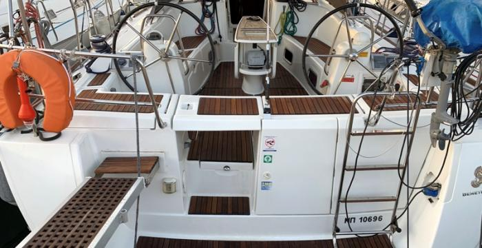 Athens Gold Yachting - Armonia - Beneteau Oceanis 46 rear